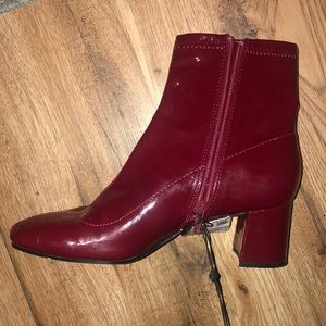 NEW!!! Zara Maroon Patent Leather Booties